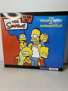 The Simpsons 16 Pin Set. The Who's Who  Of Springfield