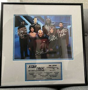 Star Trek The Next Generation TNG Cast Signed Framed Photo 472/2500
