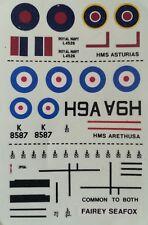 Decal    Fairey Seafox 1/72 MATCHBOX