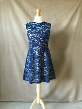 New Ladies Elegant Navy Laced Special Occasion or Evening Dress.Size 12