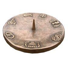 Taufkerzenleuchter 7 Symbole Bronze 15cm  baptism candle holder