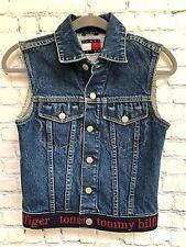 Womens Tommy Hilfiger Jeans Denim Vest-Spellout Detail- Size XS