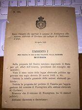 REGIO DECRETO AGGR COMUNE FONTEGRECA SEZ EL CIORLANO collegio di PIEDIMONTE