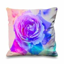Abstract Rose Faux Silk 45cm x 45cm Sofa Cushion - Roses Floral Flowers