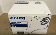4 Incandescent Light Bulb Bulbs Philips 65 Watts Br30 Flood New