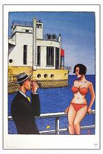 Loustal Erotic Comic-Art passenger  Reiselust auf Meer Druck print 100x70 cm