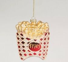 Novelty Glass Christmas tree bauble decoration French Fries