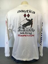 NAUTICA Shirt Skiing Competition 90s Vtg Ski Longsleeve Pocket Hip Hop USA XXL