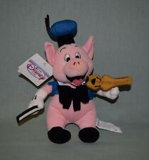 "Disney Store Plush 8"" Fiddler Pig #3 from Three Little Pigs w Tags Violin Fiddle"