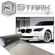 "12""x72"" Gloss Light Black Smoke Headlights Taillight Fog Lights Vinyl Film (B)"