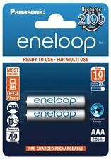 Lot of 2 Battery Accumulator AAA Rechargeable Eneloop 750/800 MAH