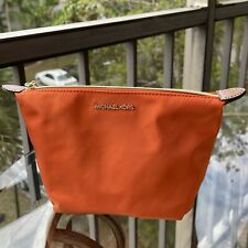 NWT Michael Kors Travel Medium Luggage Kit Pouch Cosmetic Make Up Bag Tangerine