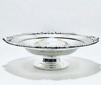 Stunning Vintage victorian WM Rogers Centerpiece Bowl Pedestal Dish silver plate