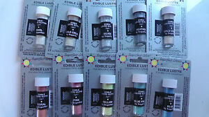 Essbarer Glitzer Glanzpuderfarbe Sugarflair, Edible Lustre  2g freie Farbauswahl
