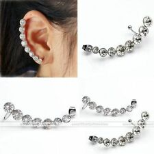 Unbranded Butterfly Fastening Crystal Cuff Costume Earrings