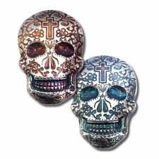2 oz. 999 Fine Silver Sugar Skull - Day of the Dead - Cross - 3-D -New