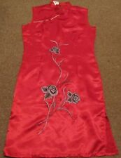 Red satin chinese dress size 8