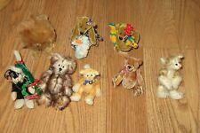 DEB CANHAM MIXED LOT OF MINI 4 TEDDY BEARS + 3 CATS+  LION