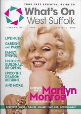 MARILYN MONROE COVER & ARTICLE - WHAT'S ON, WEST SUFFOLK MAGAZINE 2018