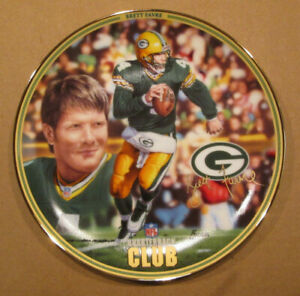 BRETT FAVRE THE BRADFORD EXCHANGE NFL QB CLUB COLLECTOR PLATE 3507A PACKERS