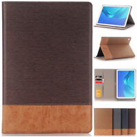 Folio Leather Stand WALLET Case Cover For Huawei MediaPad M3 M5 Pro 8.4''/10.8''