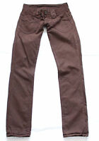 Brown Cotton PEPE JEANS MIDONNA Zip Fly Stretch Ladies Trousers Jeans Sz W28 L32