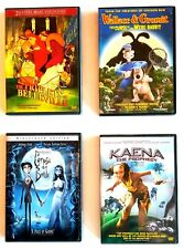 Kids Movies 4 Dvds: Corpse Bride, Triplets of Belleville, Kaena, Wallace &.