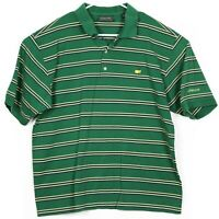Augusta Masters Collection Mens Golf Shirt Size XL Embroidered Green Striped