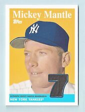 MICKEY MANTLE 2009 TOPPS 1958 REPRINT RELIC JERSEY SP YANKEES