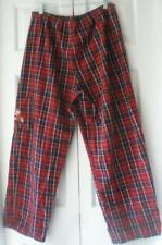 "Disney Mens Red Plaid Cotton Pajama Lounge Pants PJ Bottom Medium 32-34"" Waist"