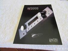 Mark Levinson 320S Pre Amp Brochure.