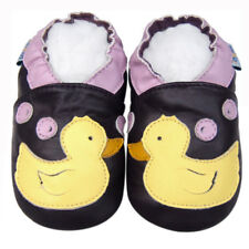Freeship Littleoneshoes Soft Sole Leather Baby Infant Kid DuckPurple Shoes 6-12M