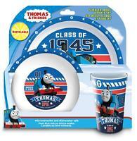 Thomas the Tank Engine Tumbler, Bowl, Plate Set, 3 piece, Blue
