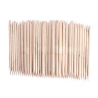 Cuticle Pusher Remover Pedicure Manicure Nail Art Tools 100Pcs Orange Wood Stick