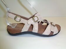 Dansko Size 11.5 to 12 JAMESON SHIMMER Beige Leather Sandals New Womens Shoes