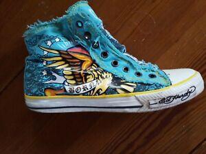 Ed Hardy Damen Schuhe Sneakers Türkis Größe 38