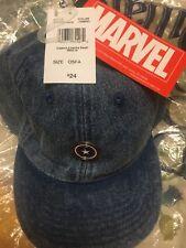 Mens Captain America Marvel Blue  Cap Hat