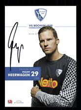 Philipp Heerwagen autografiada tarjeta vfl bochum 2011-12 original firmado + a 134962