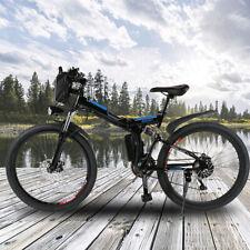 26'' Electric Bike E-bike Mountain Bicycles City Folding Cycling 21 Speed 250W ~