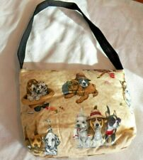 New Unbranded Cotton Fabric Hand Bag / Purse with Dogs
