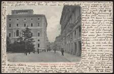 cartolina PERUGIA palazzo cesaroni e via baglioni