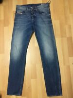 WORN LOOK Mens Diesel BUSTER Smooth Stretch Denim 0859R Blue Slim W30 L32 H6
