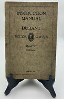 Durant Motor Cars Instruction Manual Owners Model 70 Six Cylinder 1929 19-2685C