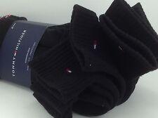 Men's TOMMY HILFIGER Black Quarter Cut Crew Socks - 6 Pack - $36 MSRP