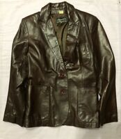 Beged-Or Leather Jacket Vintage Made In Argentina Size 12