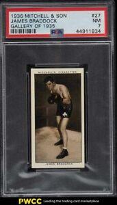 1936 Mitchell & Son Gallery Of '35 James Braddock ROOKIE RC #27 PSA 7 NRMT