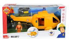 Simba Feuerwehrmann Sam mit Hubschrauber Wallaby 2 mit Feuerwehr Mann Figur NEU