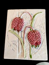 More details for linnea smaland jie gantofta sweden 708 60 small floral wall art plaque 1988