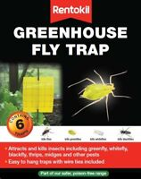 Rentokil Greenhouse Fly Traps Kills Insects Greenfly Blackfly Whitefly - 6 Traps
