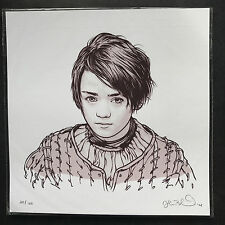 GAME OF THRONES - ARYA by JOSHUA BUDICH Limited Screen Print. Strong Women